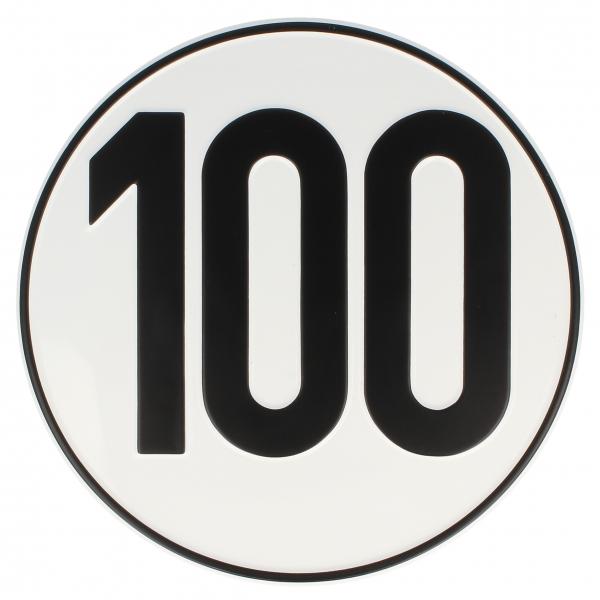 Geschwindigkeits Aufkleber 100 kmh