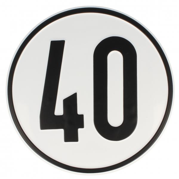 Geschwindigkeitsschild Alu 40 kmh