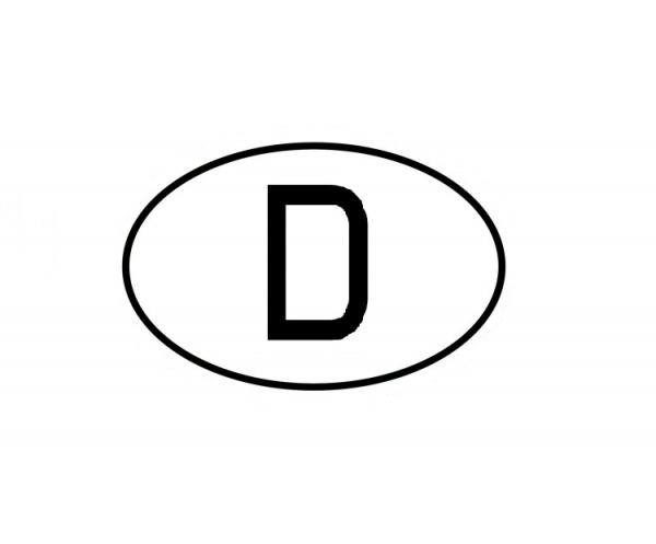 D - Deutschland Aufkleber mittel