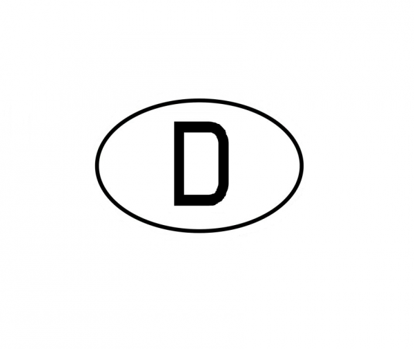 D - Deutschland Aufkleber klein
